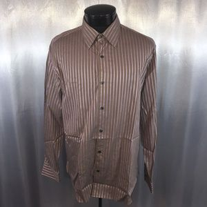 Michael Kors mens striped dress shirt